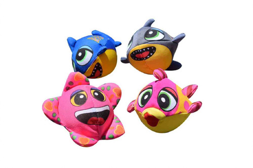 """Set of 4 Pink and Blue Fish Splasher Bombs Outdoor Pool Game 5"""" - IMAGE 1"""