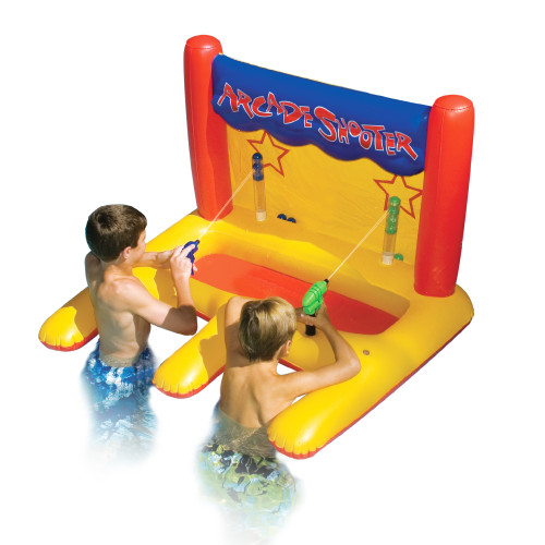 Inflatable Yellow Arcade Shooter Target Swimming Pool Game, 45-Inch - IMAGE 1