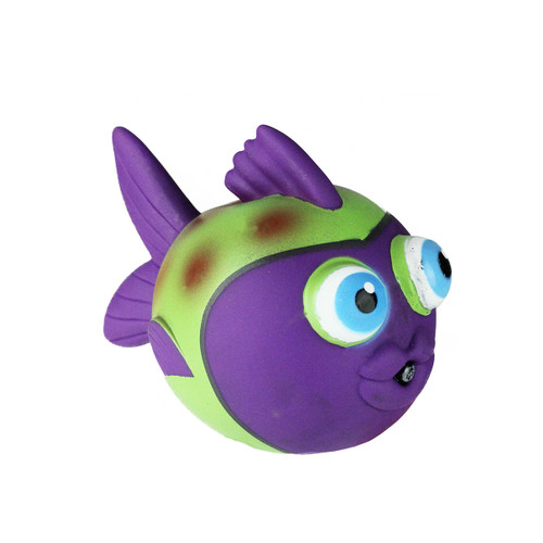 """4.25"""" Purple and Green Fish Squirter Swimming Pool Water Toy - IMAGE 1"""