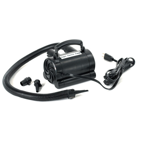 Black High Capacity Electric Air Pump For Inflatables - IMAGE 1