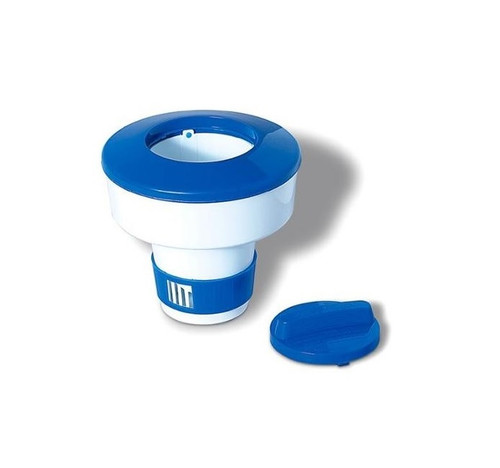 7-Inch Blue and White Adjustable Floating Swimming Pool Chemical Dispenser - IMAGE 1