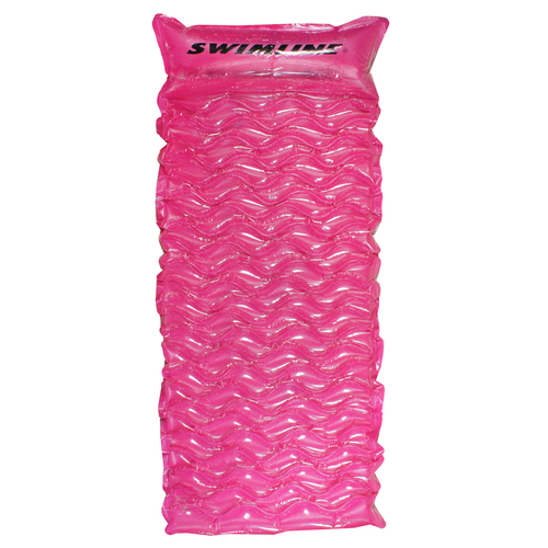 """70"""" Inflatable Pink Bubble Swirled Swimming Pool Air Mattress Float - IMAGE 1"""