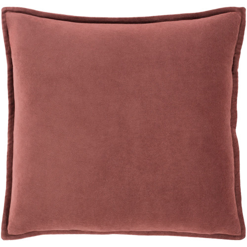 "20"" Brown Solid Square Throw Pillow with Flange Edge - Down Filler - IMAGE 1"