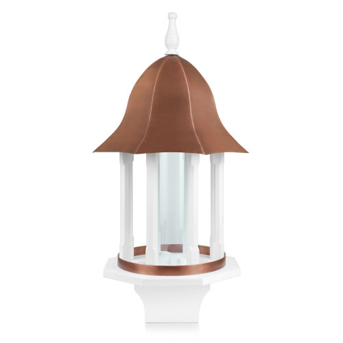 """33"""" Brown and White Seed Capacity Manor Bird Feeder - IMAGE 1"""