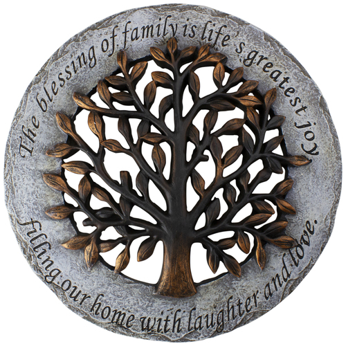 """The Blessing of Family Decorative Tree Spring Outdoor Garden Patio Stepping Stone 12"""" - IMAGE 1"""