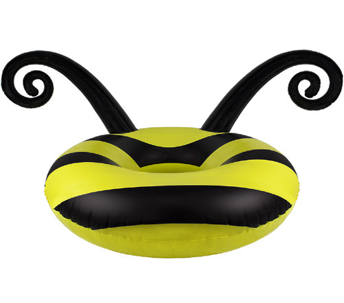 Black and Yellow Bumblebee Swimming Pool Party Inner Tube, 48-Inch - IMAGE 1