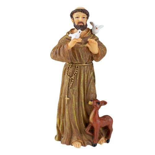"3.5"" Patrons & Protectors Saint Francis of Assisi Inspirational Religious Figure - IMAGE 1"