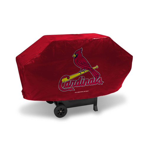 "68"" x 35"" Red and Yellow MLB St. Louis Cardinals Executive Grill Cover - IMAGE 1"