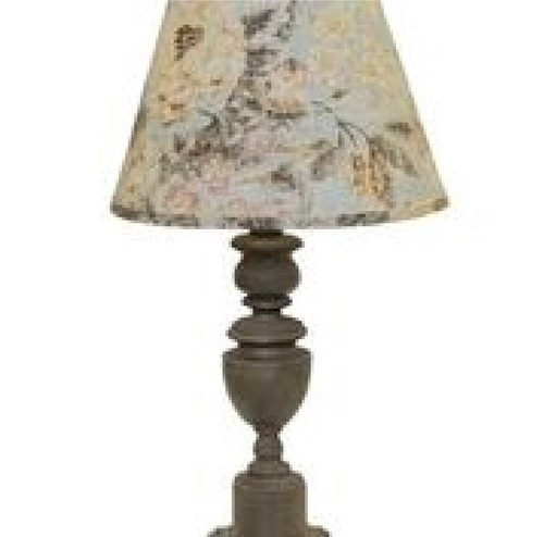 """28"""" Copen Table Lamp with  Fleurie Dusty Rose Shade - IMAGE 1"""