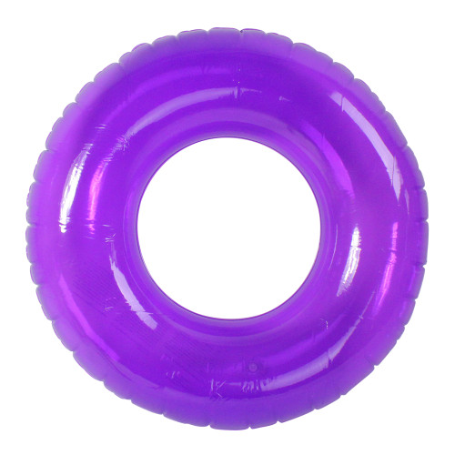 "30"" Inflatable Classic Purple Swim Ring Tube Pool Float - IMAGE 1"