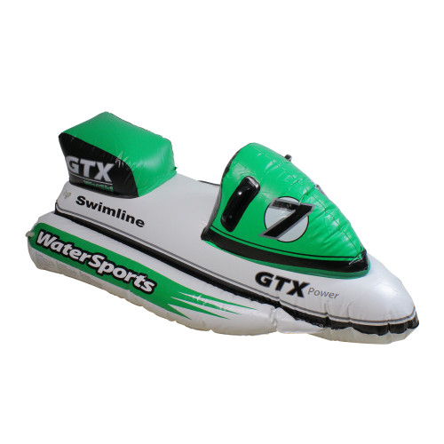 """51"""" Inflatable Green GTX Power Water Bike Swimming Pool Ride on Float - IMAGE 1"""