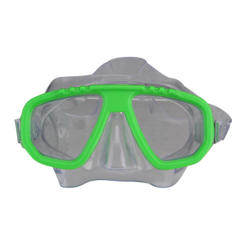 "5.5"" Lime Green Newport Recreational Swim Mask With Adjustable Strap for Kids - IMAGE 1"