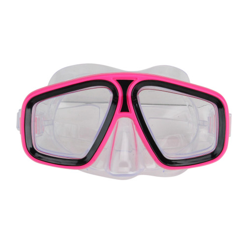 "6.25"" Pink and Clear Laguna Recreational Swim Mask With Adjustable Strap - IMAGE 1"