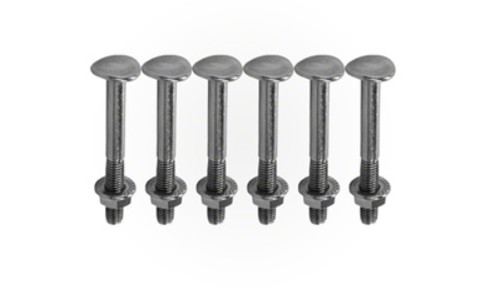 "5/16"" Silver colored HydroTools Ladder Bolt Set For Stainless Steel Ladder Step Pool Accessory - IMAGE 1"