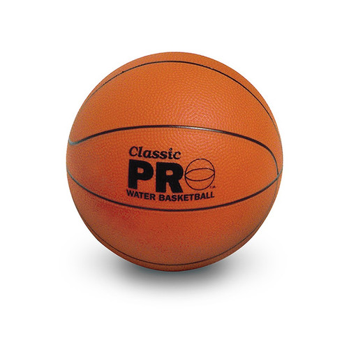 """8.5"""" Brown Inflatable Sport Ball Classic Pro Water Basketball Swimming Pool Accessory - IMAGE 1"""
