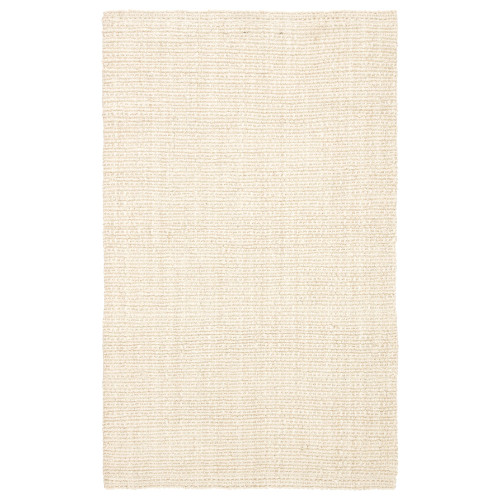 5' x 8' Ivory Hand Woven Rectangular Area Throw Rug - IMAGE 1