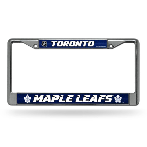 """6"""" x 12"""" Blue and White NHL Toronto Maple Leafs License Plate Cover - IMAGE 1"""