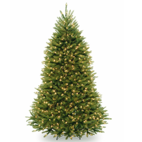 7.5 ft. Pre-lit Dunhill Artificial Christmas Tree with Clear Lights - IMAGE 1