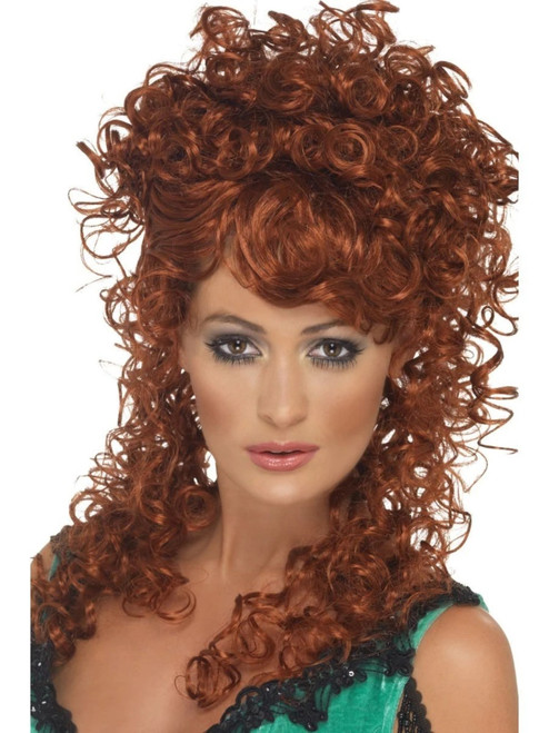 """26"""" Auburn Brown Historical Long and Curly Women Adult Halloween Wig Costume Accessory - One Size - IMAGE 1"""
