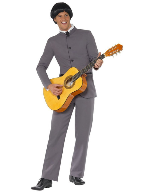 """49"""" Gray and White Fab Four Iconic Men Adult Halloween Costume - Medium - IMAGE 1"""