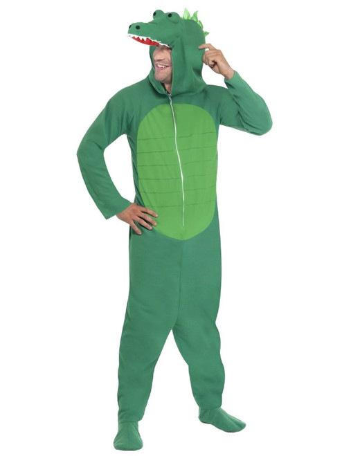 "42"" Green Crocodile Unisex Adult Halloween Costume - Medium - IMAGE 1"