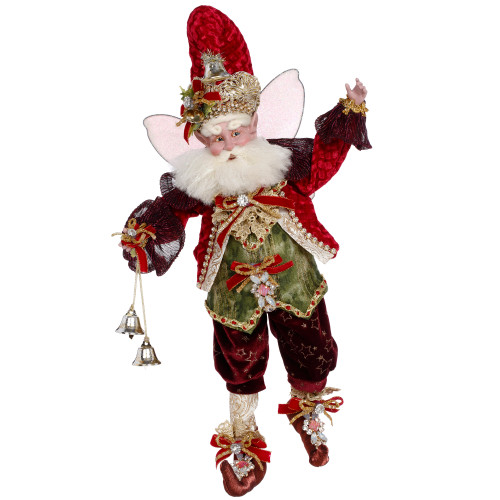 """16"""" Red Mark Roberts Collectible Wonderful Time Christmas Fairy Figure - IMAGE 1"""