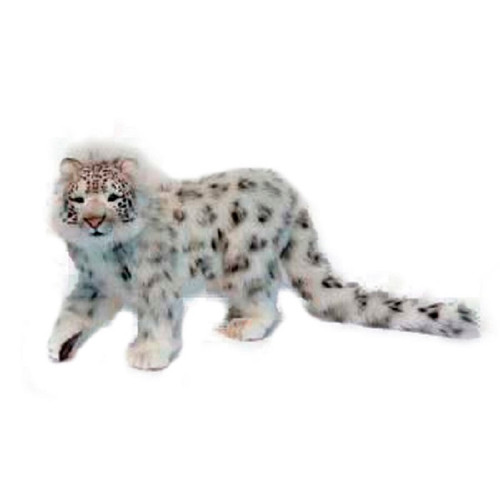 """Set of 2 Handcrafted Snow Leopard Stuffed Animals 30.25"""" - IMAGE 1"""