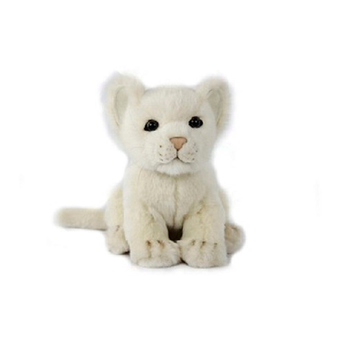 """Set of 4 Handcrafted White Lion Cub Stuffed Animals 6.6"""" - IMAGE 1"""