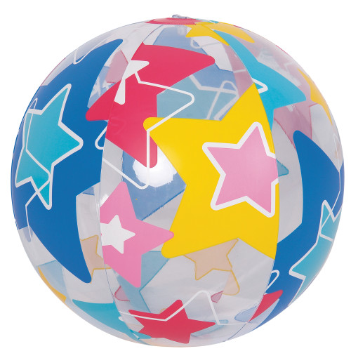 """20"""" Inflatable Bright Star Beach Ball Swimming Pool Toy - IMAGE 1"""