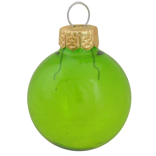 "4ct Clear Green Glass Ball Christmas Ornaments 4.75"" (120mm) - IMAGE 1"