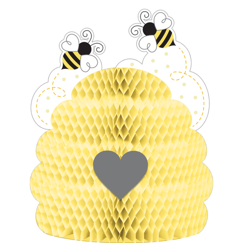 """Set of 6 Gold and Black Bumblebee Baby Centerpieces 11"""" - IMAGE 1"""