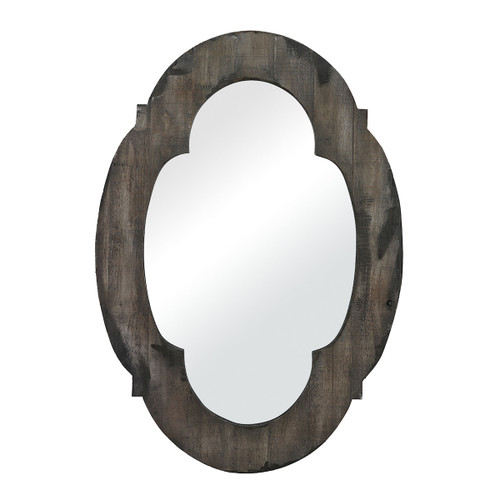 "28"" Aged Gray Wood Framed Wall Mounted Mirror - IMAGE 1"