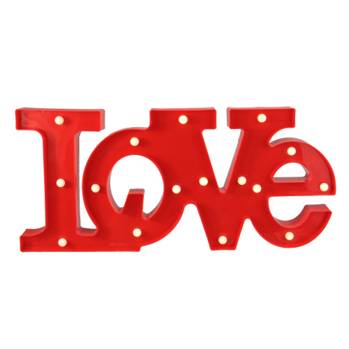 """20"""" Red 'LOVE' LED Valentine's Day Marquee Wall Sign - IMAGE 1"""