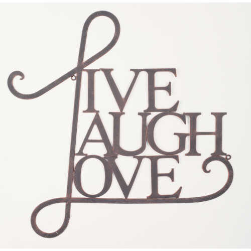 """Brown Contemporary """"Live Laugh Love"""" Wall Art 21.25"""" x 20.50"""" - IMAGE 1"""