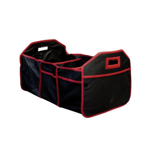 """23"""" Black and Red 3 Section All in One Car Travel Organizer - IMAGE 1"""