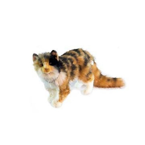"Set of 2 Handcrafted Calico Cat Stuffed Animals 24.25"" - IMAGE 1"