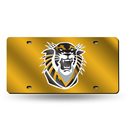"""12"""" White and Yellow College Fort Hays State Tigers Tag - IMAGE 1"""