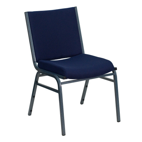 """31.25"""" Navy Blue Contemporary Square Stacking Chair - IMAGE 1"""
