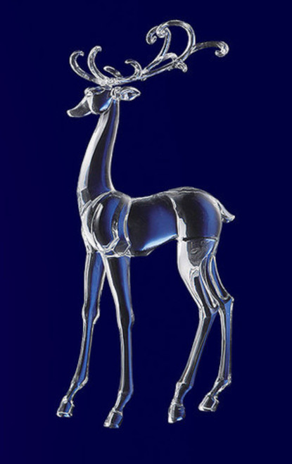 "Icy Crystal Decorative Christmas Standing Deer Figure 25.3"" - IMAGE 1"