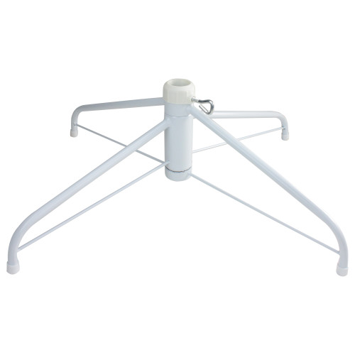White Metal Christmas Tree Stand for 6.5'-7.5' Artificial Trees - IMAGE 1