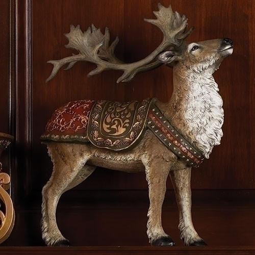 "16"" Brown Santa Book of Secret Reindeer with Red and Green Saddle - IMAGE 1"