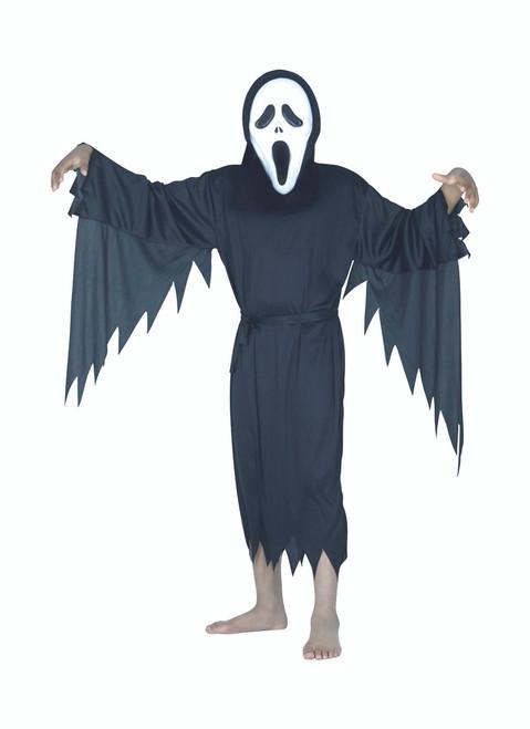Black Ghost Unisex Child Halloween Costume - Medium - IMAGE 1