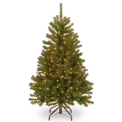 4' Pre-Lit North Valley Spruce Artificial Christmas Tree - Clear Lights - IMAGE 1