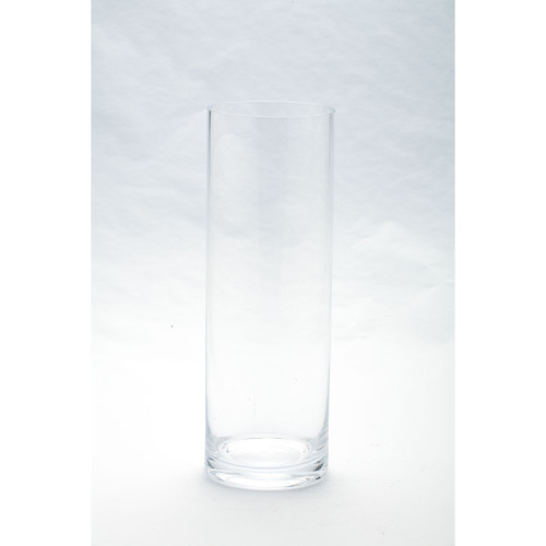 """12"""" Clear Cylindrical Glass Vase - IMAGE 1"""