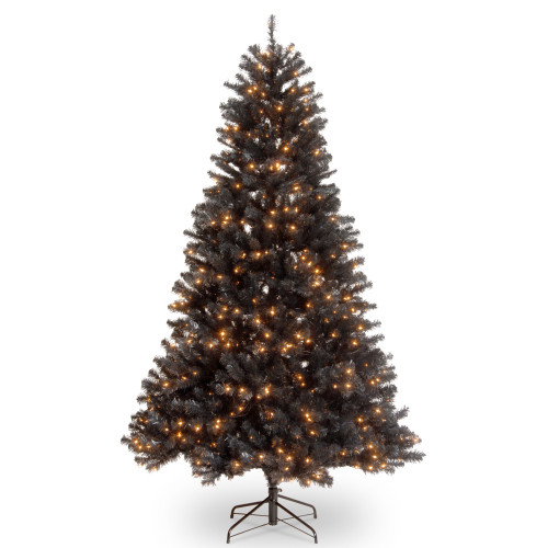 6.5' Pre-Lit North Valley Black Spruce Artificial Christmas Tree - Clear Lights - IMAGE 1