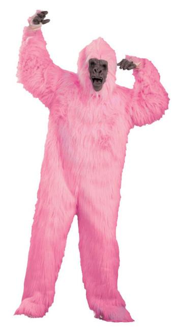 Pink Gorilla Unisex Adult Halloween Costume with Mask - IMAGE 1