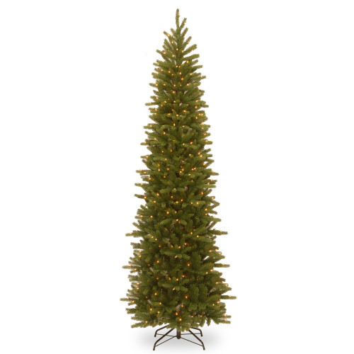 9' Pre-Lit Pencil Fir Artificial Christmas Tree - Clear Lights - IMAGE 1