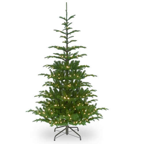6.5' Pre-Lit Norwegian Spruce Artificial Christmas Tree - Clear Lights - IMAGE 1