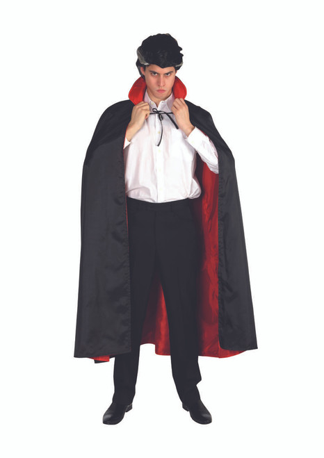 Black and Red Vampire Boy Child Halloween Cape Costume Accessory - One Size - IMAGE 1
