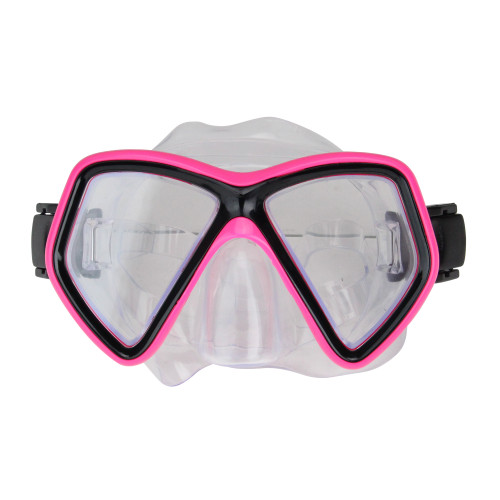 """6.25"""" Hot Pink and Black Monaco Swim Mask With Adjustable Strap for Ages 10 and up - IMAGE 1"""
